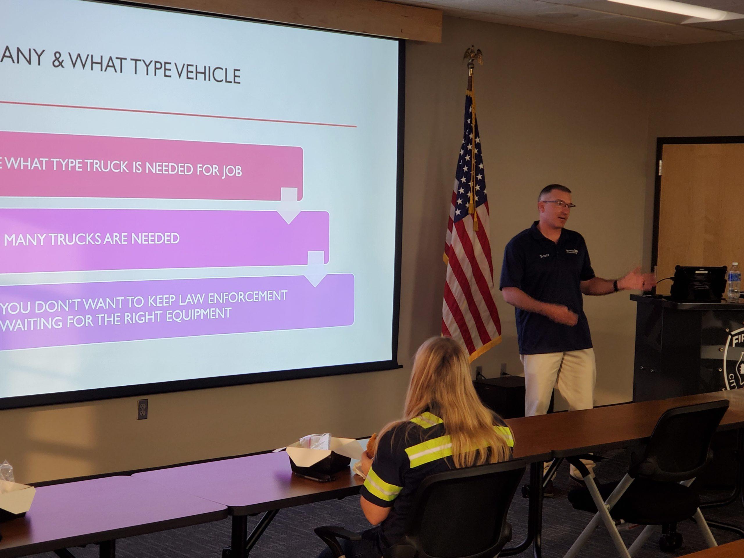 Scott Crabtree teaching TIMS